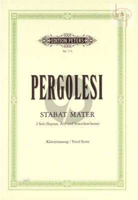 Stabat Mater Sopran-Alt-Streicher-Bc Klavierauszug