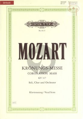 Krönungs-Messe KV 317 C-dur (Soli-Choir-Orch.) (Vocal Score)