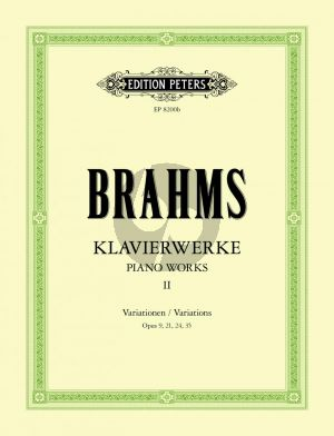 Brahms Klavierwerke Vol.2 Urtext Edition Carl Seemann / Kurt Stephenson