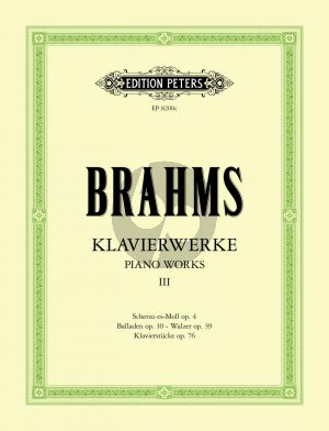 Brahms Klavierwerke Vol.3 Urtext Edition Carl Seemann / Kurt Stephenson