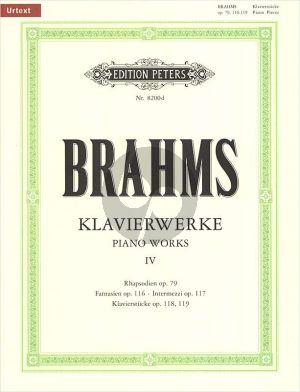 Brahms Klavierwerke Vol.4 Urtext Edition Carl Seemann / Kurt Stephenson