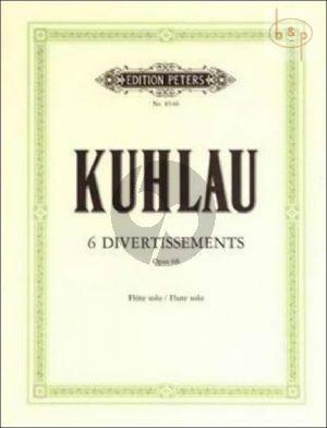 Kuhlau 6 Divertissements Op.68 Flute solo (edited by P.Taffanel)