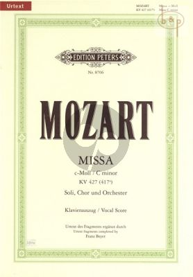 Missa c-minor KV 427 [417a] Soli-Choir-Orchestra Vocal Score