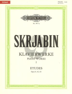Scriabin Klavierwerke Band 1 Etuden Op. 8 - 42 - 65 Klavier (Herausgegeben von Gunter Philipp)