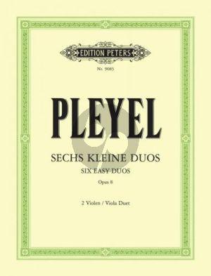 Pleyel 6 Kleine Duos Op.8 2 Violas (Ferdinand David/Arnold Matz/Carl Hermann)