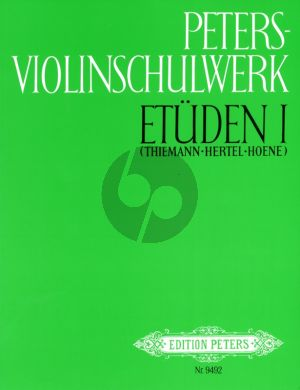 Album Peters Violin Schulwerk Vol.2 Etuden (Hertel Thiemann Hoene)