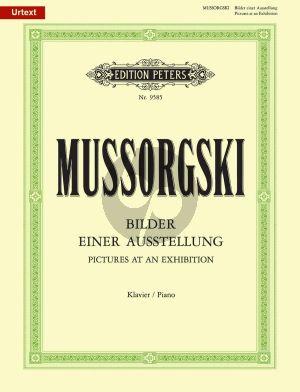 Mussorgsky Bilder einer Ausstellung Klavier (Urtext) (Hellmundt) (Peters)