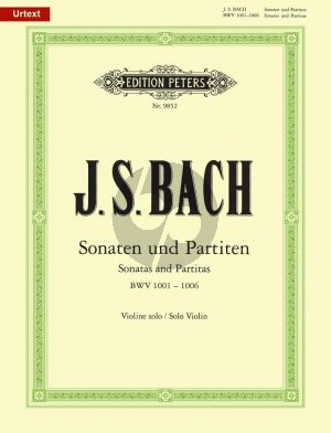 Bach 6 Sonaten & Partiten BWV 1001 - 1006 fur Violine Solo (Edited by Max Rostal) (Peters Urtext)