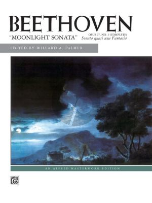 Beethoven Sonata C-sharp minor Op.27 No.2 Mondschein Piano (edited by Willard A. Palmer) (Late Intermediate / Early Advanced)