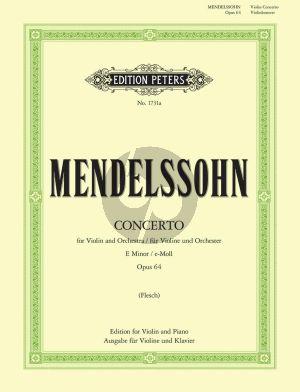 Mendelssohn Konzert e-moll Op.64 Violine und Klavier (Carl Flesch)