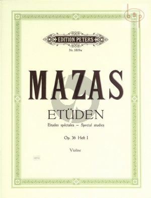 Mazas Etudes Speciales Op.36 Vol.1 Violine (Davisson)