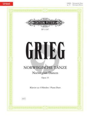 Norwegische Tänze Op.35 Piano 4 Hds