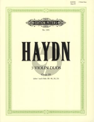 Haydn 3 Duette Op. 99 2 Violinen (nach Hob.III: 40 - 20 - 23) (Hans Sitt)