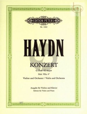 Haydn Konzert No.2 G-dur (Hob. VIIa:4*) Violine-Orchester AUsgabe Violine und Klavier (Ferdinand Kuchler)