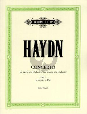 Konzert No.1 C-dur Hob. VIIa:1 Violine-Orchester Ausgabe Violine und Klavier