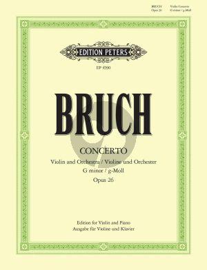 Bruch Konzert No.1 g-moll Op.26 Violine Und Orchester (Klavierauszug) (Stross/Soldan)