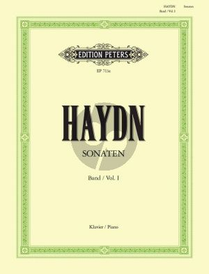 Haydn Klavier Sonaten Vol.1Klavier (Herausgegeben von Carl Adolf Martienssen) (Peters)