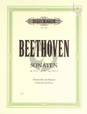 Sonaten Op.5 No.1 - 2 , Op.69 und Op.101 No.1 - 2