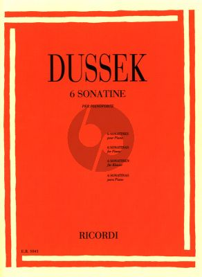 Dussek 6 Sonatinas Op. 20 Piano