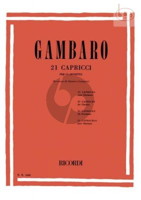 21 Caprices Clarinet