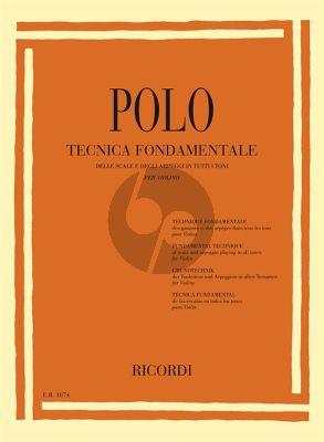 Polo Fundamental Technique Scale/Arpeggio Playing Violin