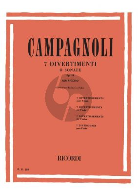 Campagnoli 7 Divertissements Op.18 Violin