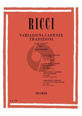 Ricci Variazione Cadenzas Traditions Vol.1 (Female Voices)