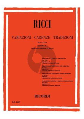 Ricci Variazioni - Cadenze Tradizioni per Canto - App. 2