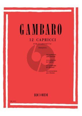 Gambaro 12 Caprices Clarinet (edited by Alamiro Giampieri)