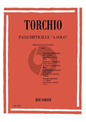 Torchio Difficult Passages and 'Solos' Vol.1 Flute
