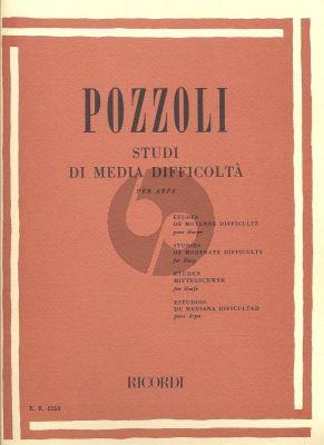 Pozzoli Studies of Moderate Difficulty (Studi de Media Difficolta) Harp
