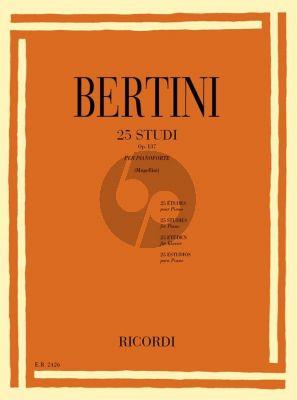 Bertini 25 Studies Op.137 Piano (Bruno Mugellini)