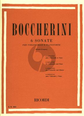 Boccherini 6 Sonatas (Piatti-Crepax) (Ricordi)