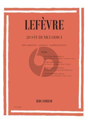 Lefevre 20 Melodious Studies Clarinet or Saxophone (Leonardo Savina)