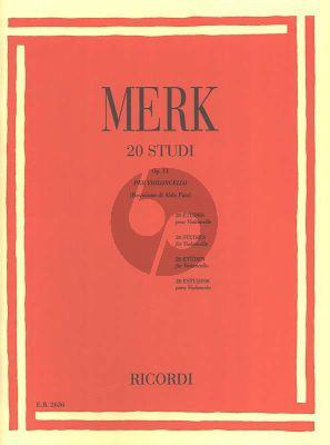 Merk 20 Studies Op.11 Violoncello (Aldo Pais)