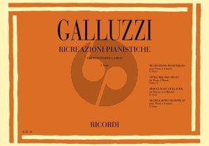 Galluzzi Ricreazioni Pianistiche Vol.1 Piano 4 hds (Little Melodic Pieces)
