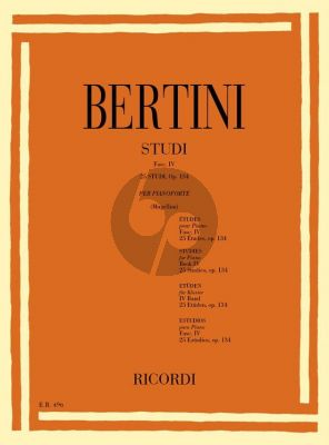 Bertini Studies Op.134 Piano (Bruno Mugellini)