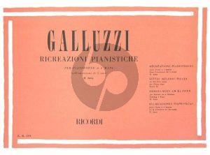 Galluzzi Ricreazioni Pianistiche Vol. 2 Piano 4 hds (Little Melodic Pieces)