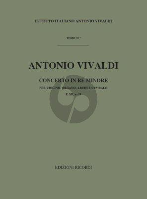 Vivaldi Concerto d-minor RV 541 Violin-Organ-Strings-Bc (Score) (edited by F. Malipiero)