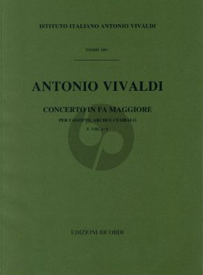 Vivaldi Concerto F major F.VIII n.8 bassoon-strings-cembalo