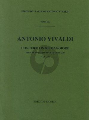 Vivaldi Concerto D major F.III n.16 Violonccello-Strings-Cembalo