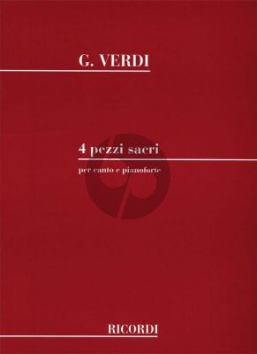 Verdi 4 Pezzi Sacri (Mixed Voices) (div.) (Luporini)