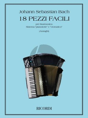 Bach 18 Easy Pieces for Accordion (Anzaghi)