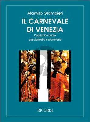 Giampieri Il Carnavale di Venezia for Clarinet and Piano