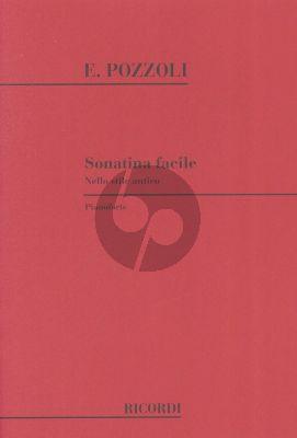 Pozzoli Sonatina Facile nello Stile Antico Piano solo