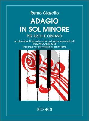 Albinoni Adagio g-minor Violin-Piano