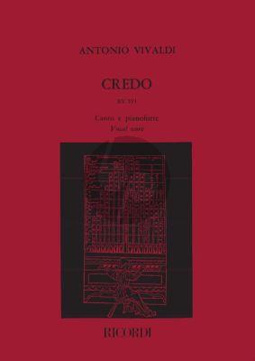 Vivaldi Credo RV 591 SATB-2 Vi.-Va.-Bc Vocal Score (G.F. Malipiero)