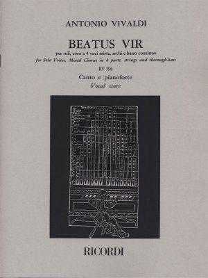 Vivaldi Beatus Vir RV (Psalm 111) 598 Soli-Choir-Strings-Bc (Vocalscore) (Azio Corghi)