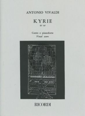 Vivaldi Kyrie RV 587 Double Mixed Choirs-2 String Orchestras-Bc Vocal Score (edited by Antonio Degrada)