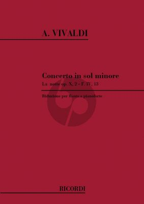 Vivaldi Concerto G-minor (La Notte) RV 439 (F.VI n.13) Flute-Strings-Bc. (piano red.)